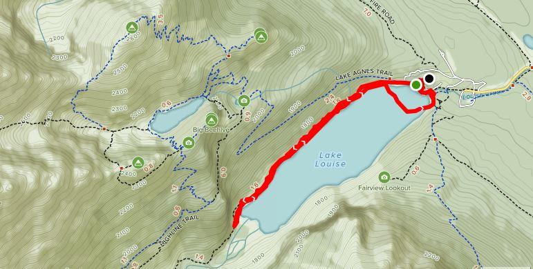 Lake Louise - hiking the lake