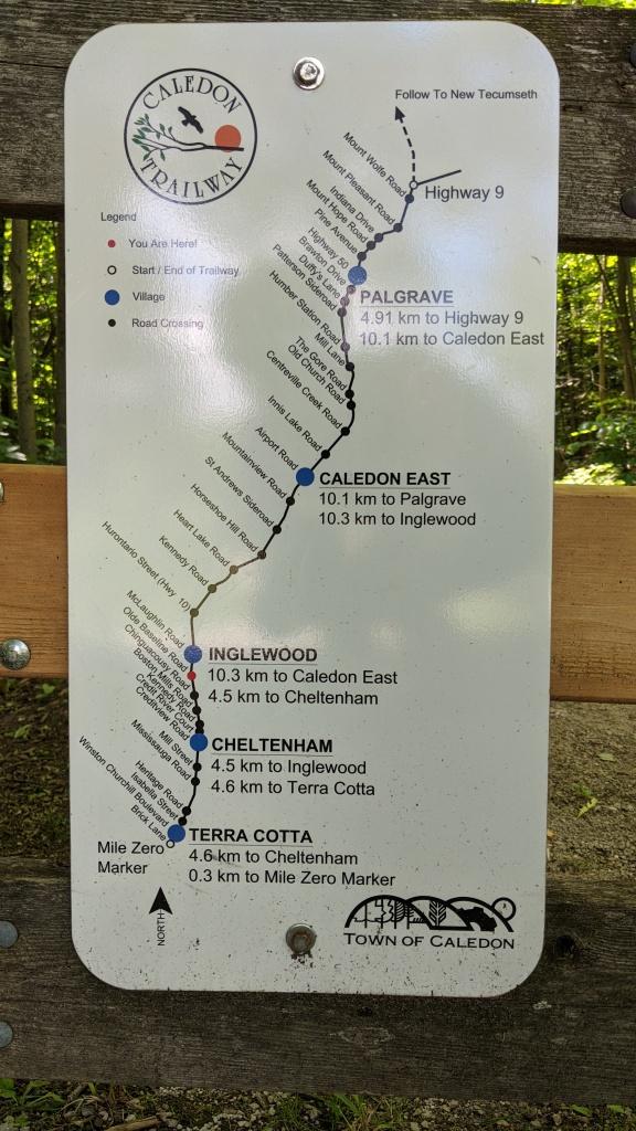 Caledon Trailway Map