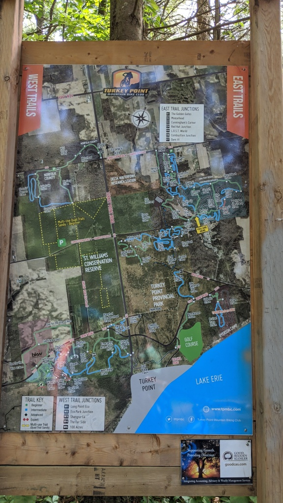 Turkey Point Mountain Bike Hike Trail Map