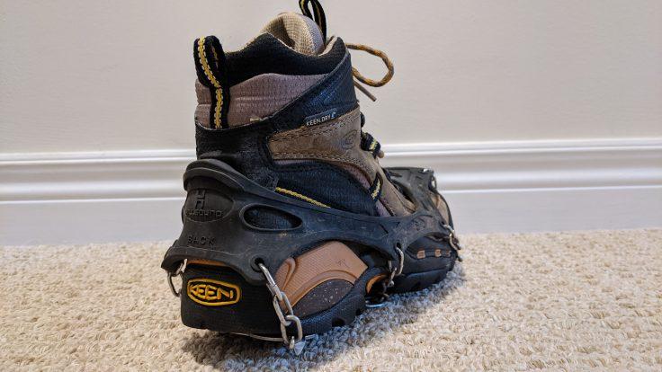 Crampons over Keen Boots